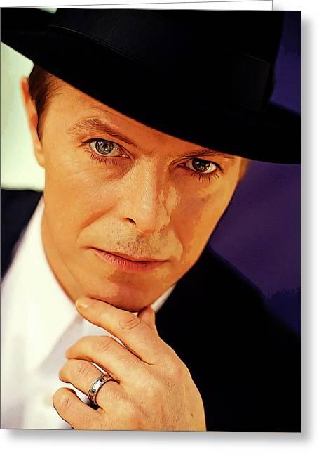David Bowie As An Average Everyman Greeting Card