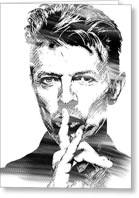 David Bowie Bw Greeting Card