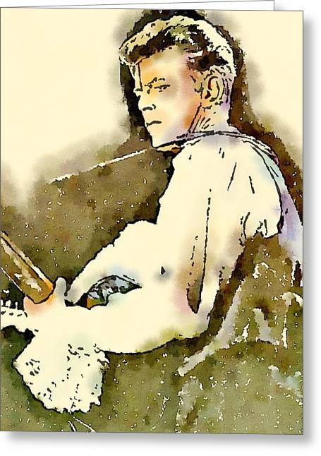 David Bowie By John Springfield Greeting Card