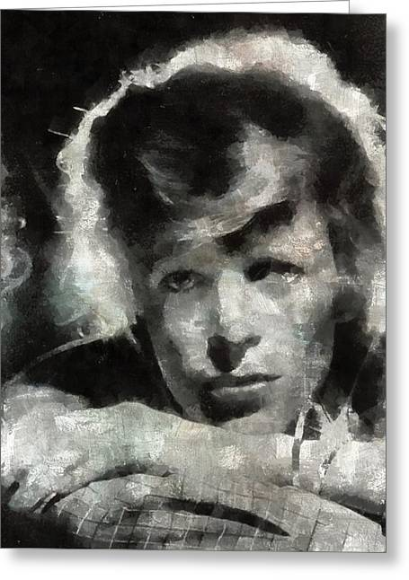 David Bowie By Mary Bassett Greeting Card