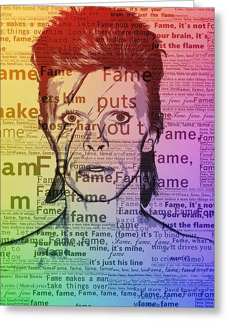 David Bowie Fame Greeting Card by Dan Sproul
