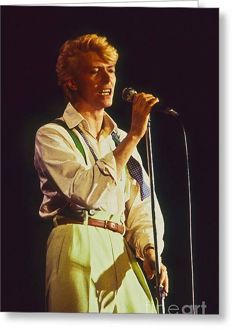 David Bowie Hot Pants Greeting Card by Philippe Taka
