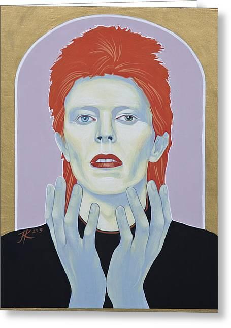 David Bowie Greeting Card by Jovana Kolic