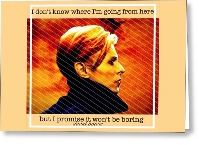 David Bowie Greeting Card by Laura Michelle Corbin