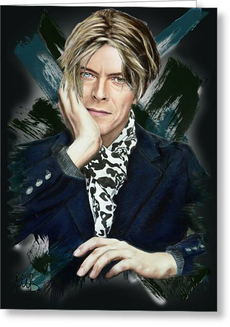 David Bowie Greeting Card by Melanie D
