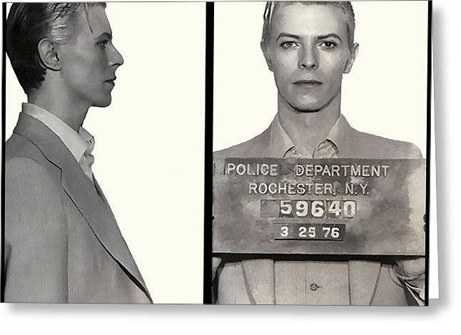 David Bowie Mugshot 1976 Greeting Card
