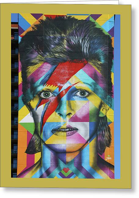 David Bowie Mural # 3 Greeting Card