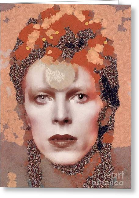 David Bowie, Music Legend Greeting Card
