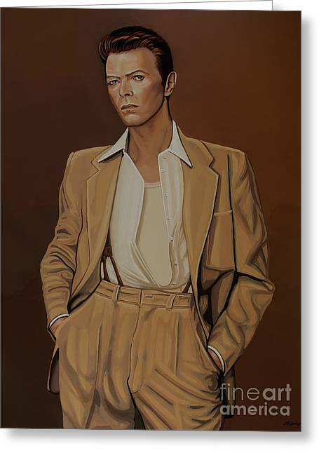 David Bowie Four Ever Greeting Card by Paul Meijering