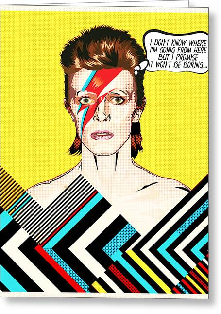 David Bowie Pop Art Greeting Card by BONB Creative