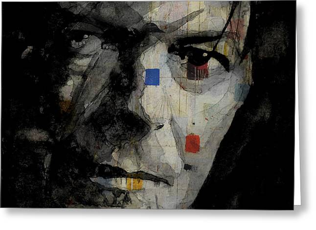 David Bowie Retro  Greeting Card by Paul Lovering