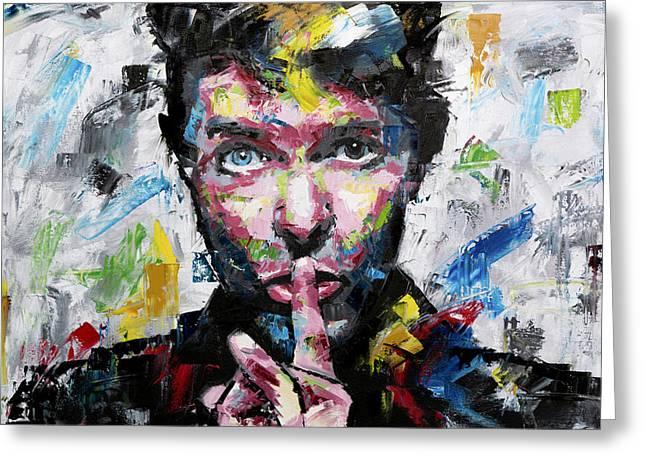 David Bowie Shh Greeting Card