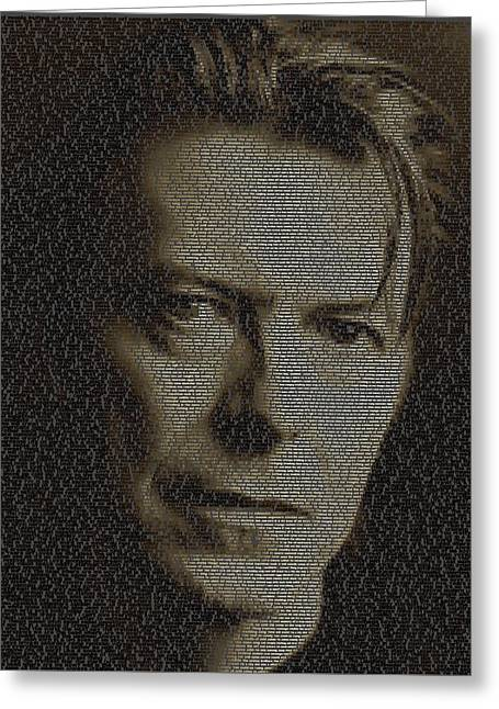 David Bowie Song List Mosaic Greeting Card
