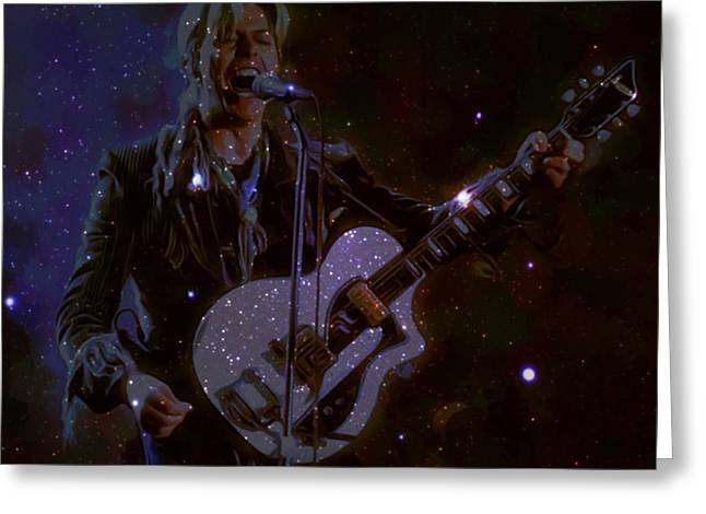 David Bowie Space Oddity  Greeting Card by Scott Wallace