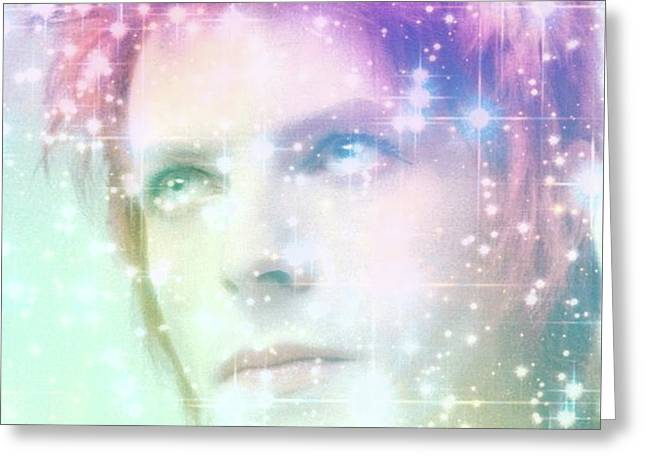David Bowie / Starman 2 Greeting Card by Elizabeth McTaggart