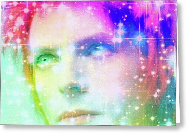 David Bowie / Starman Greeting Card by Elizabeth McTaggart