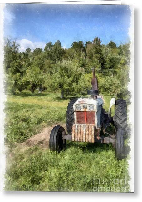 David Brown Case Vintage Tractor Greeting Card by Edward Fielding
