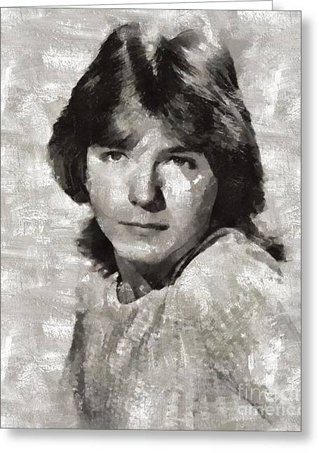 David Cassidy, Singer And Actor Greeting Card by Mary Bassett