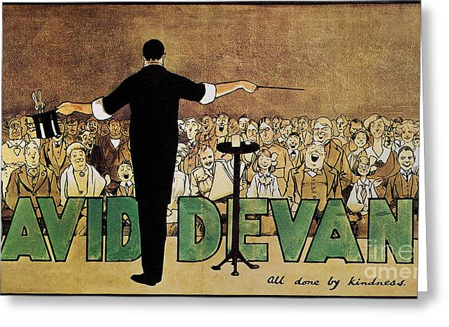 Entertainer Drawings Greeting Cards - DAVID DEVANT POSTER c1910 Greeting Card by Granger