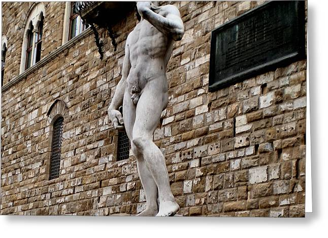 Asbjorn Lonvig Digital Art Greeting Cards - David di Michelangelo Greeting Card by Asbjorn Lonvig