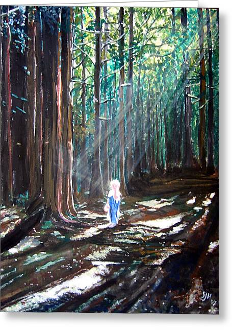 David In The Forest Greeting Card