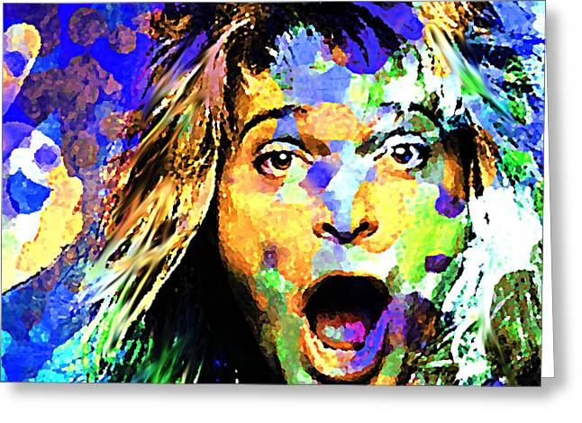 David Lee Roth Greeting Card by Enki Art