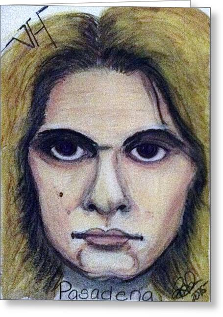 David Lee Roth Greeting Card by Regina Jeffers