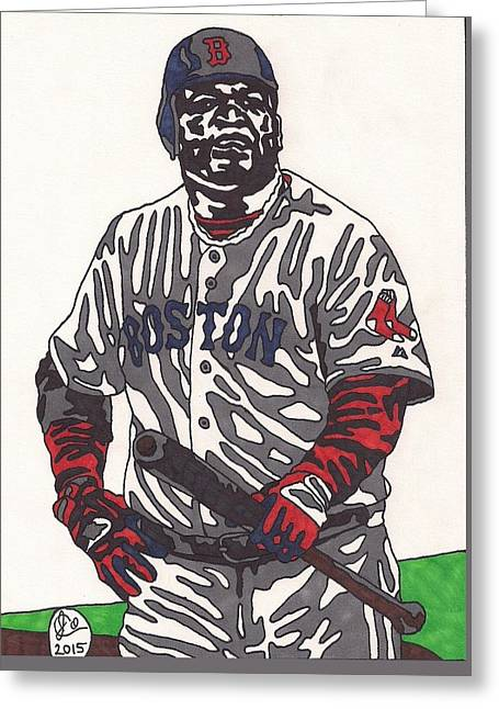 David Ortiz 1 Greeting Card by Jeremiah Colley
