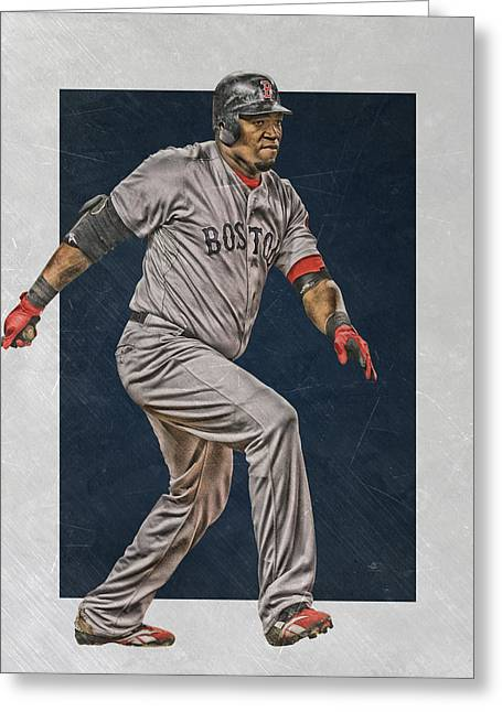 David Ortiz Boston Red Sox Art 2 Greeting Card by Joe Hamilton