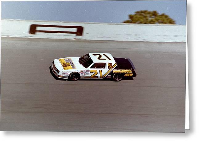 David Pearson # 21 Chattanooga Chew Chevrolet 1985 Daytona 500 Greeting Card by David Bryant