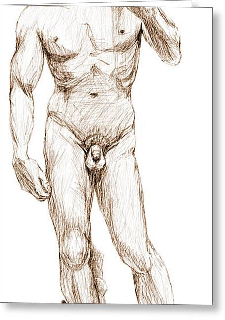 David Sketch Greeting Card by Khaila Derrington