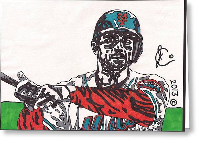 David Wright 2 Greeting Card by Jeremiah Colley