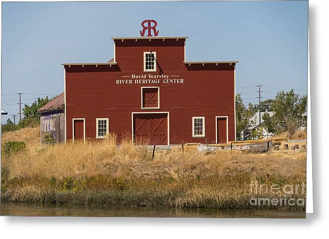 David Yearsley River Heritage Center Petaluma California Usa Dsc3863 Greeting Card by Wingsdomain Art and Photography