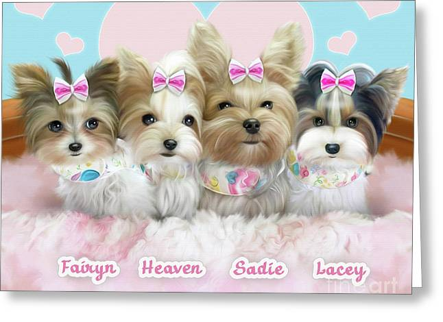 Davidson's Furbabies Greeting Card by Catia Cho