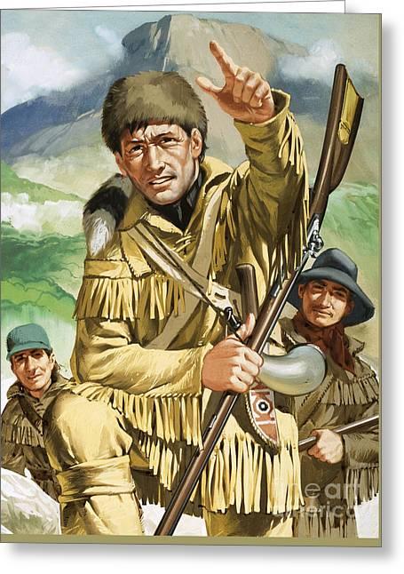 Davy Crocket Greeting Card