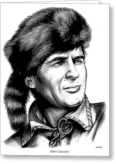 Davy Crockett Greeting Card