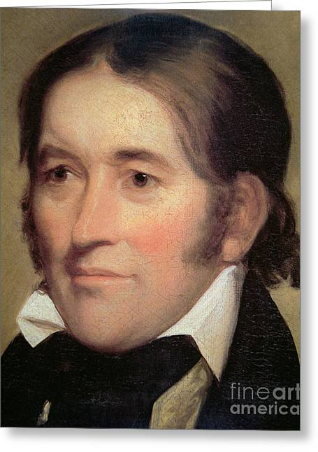 Davy Crockett  Greeting Card by John Neagle