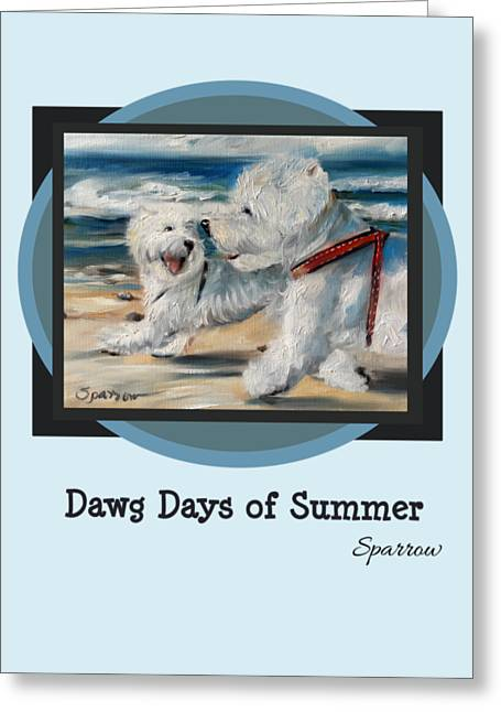 Dawg Days Of Summer Greeting Card