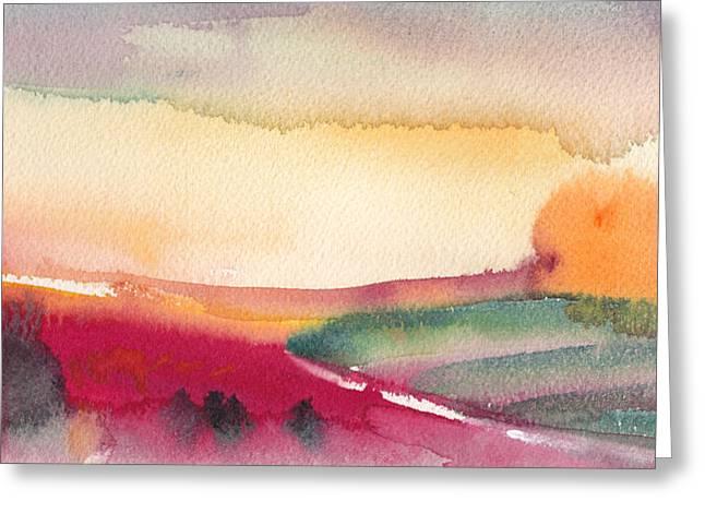 Dawn 12 Greeting Card by Miki De Goodaboom
