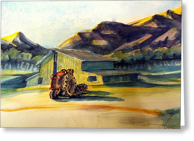 Dawn Along Hiway 33 Greeting Card by Steven Holder