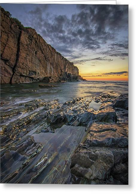 Dawn At Bald Head Cliff Greeting Card