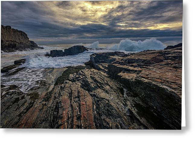 Dawn At Bald Head Cliff Greeting Card by Rick Berk