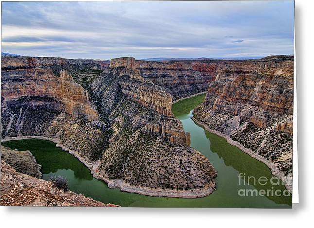 Dawn At Devils Overlook Bighorn Canyon Greeting Card