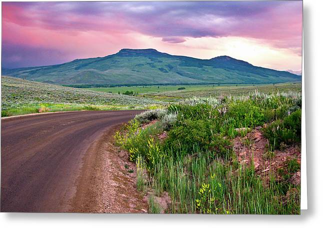 Dawn At Flattop Mountain Greeting Card