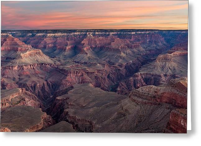 Dawn At Grand Canyon Greeting Card
