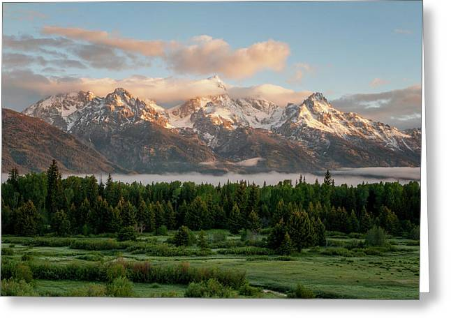 Dawn At Grand Teton National Park Greeting Card by Brian Harig