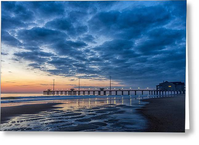 Dawn At Jennete's Pier Greeting Card