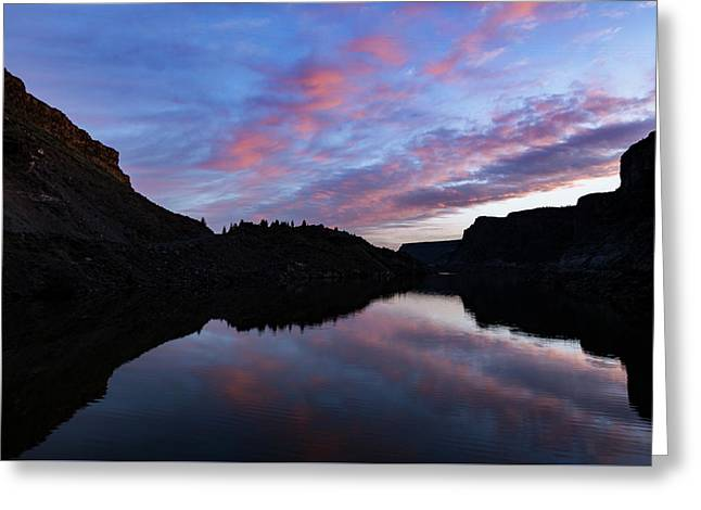 Greeting Card featuring the photograph Dawn At Lake Billy Chinook by Cat Connor