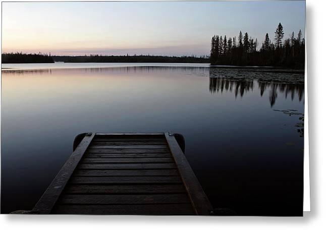 Dawn At Lynx Lake In Northern Saskatchewan Greeting Card