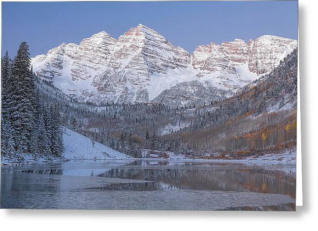 Dawn At Maroon Bells 2 Greeting Card